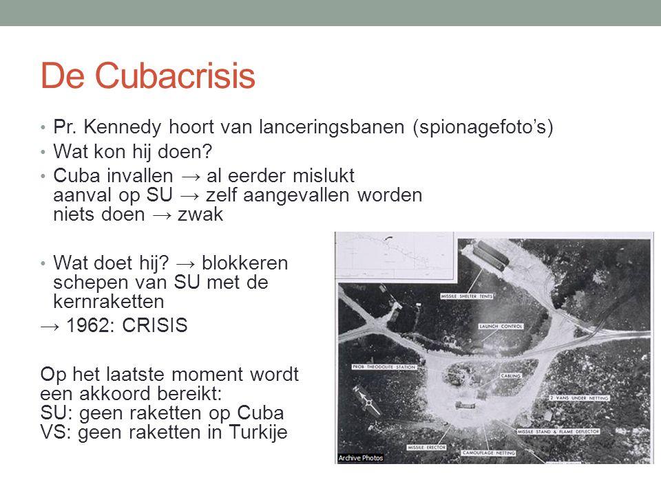 De Cubacrisis Pr. Kennedy hoort van lanceringsbanen (spionagefoto's)