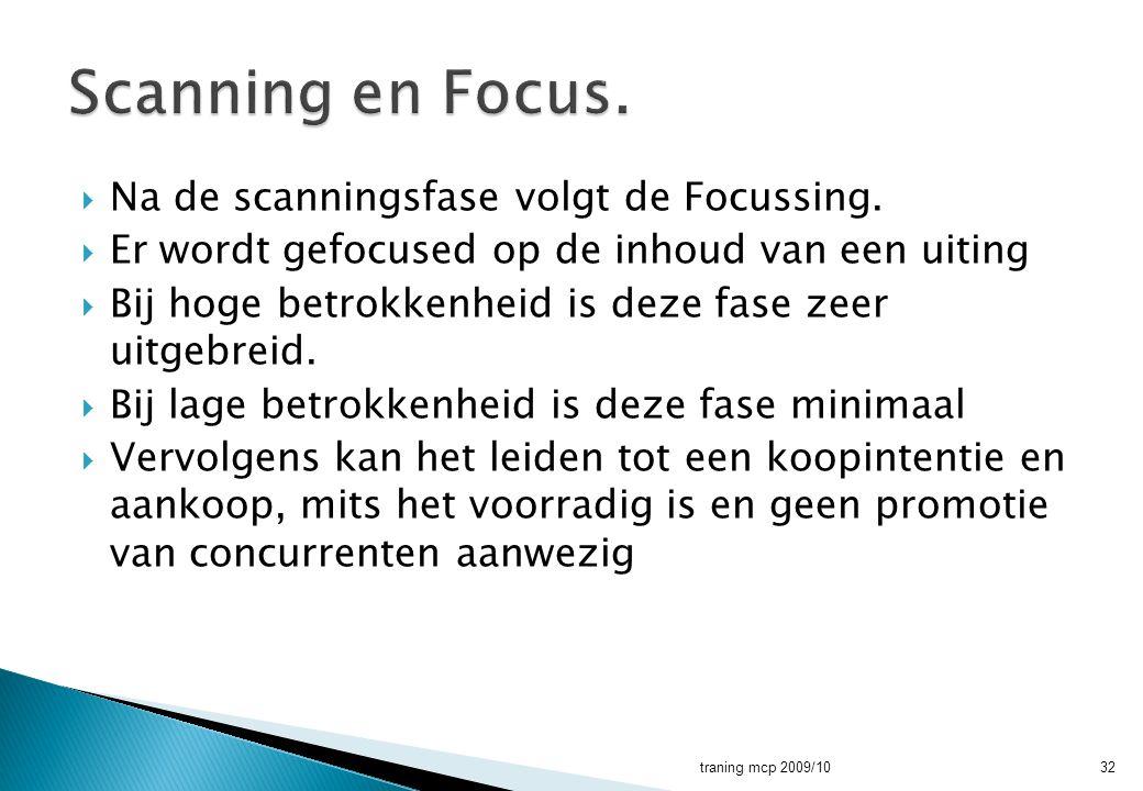 Scanning en Focus. Na de scanningsfase volgt de Focussing.
