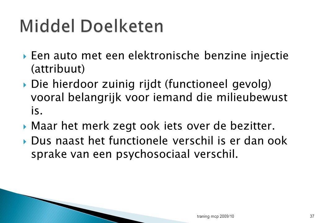 Middel Doelketen Een auto met een elektronische benzine injectie (attribuut)