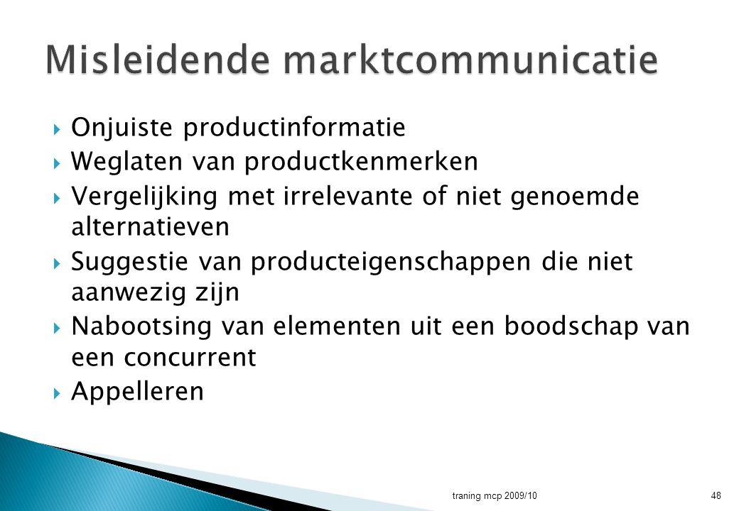 Misleidende marktcommunicatie