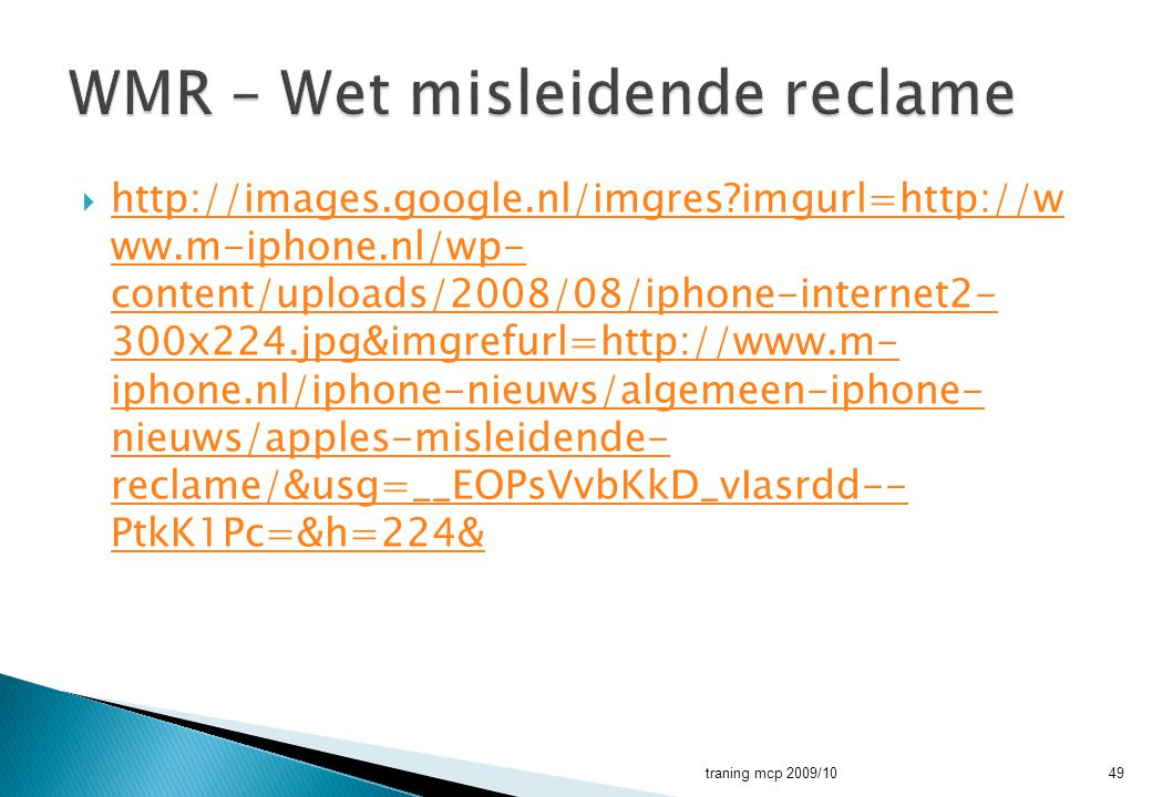 WMR – Wet misleidende reclame