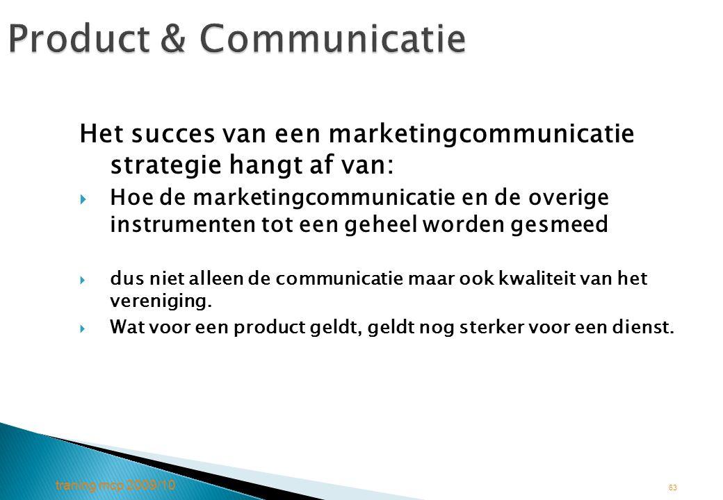 Product & Communicatie