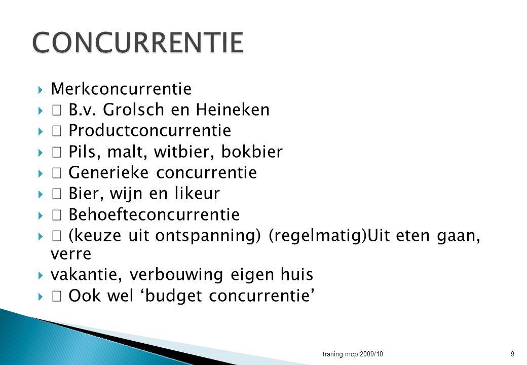 CONCURRENTIE Merkconcurrentie  B.v. Grolsch en Heineken