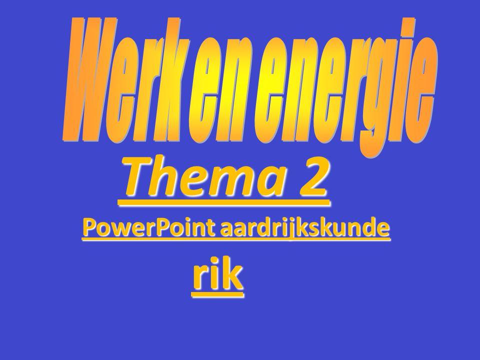 Thema 2 PowerPoint aardrijkskunde rik