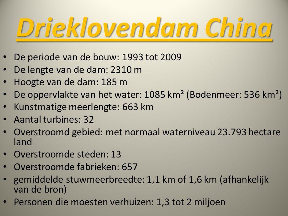 Drieklovendam China De periode van de bouw: 1993 tot 2009