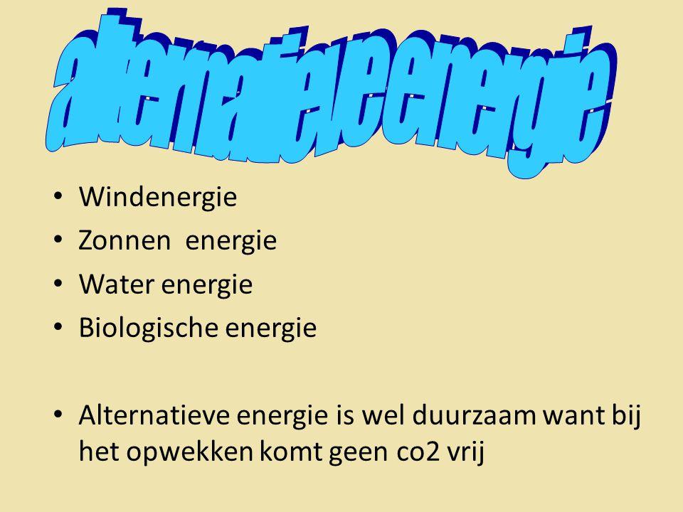 alternatieve energie Windenergie Zonnen energie Water energie