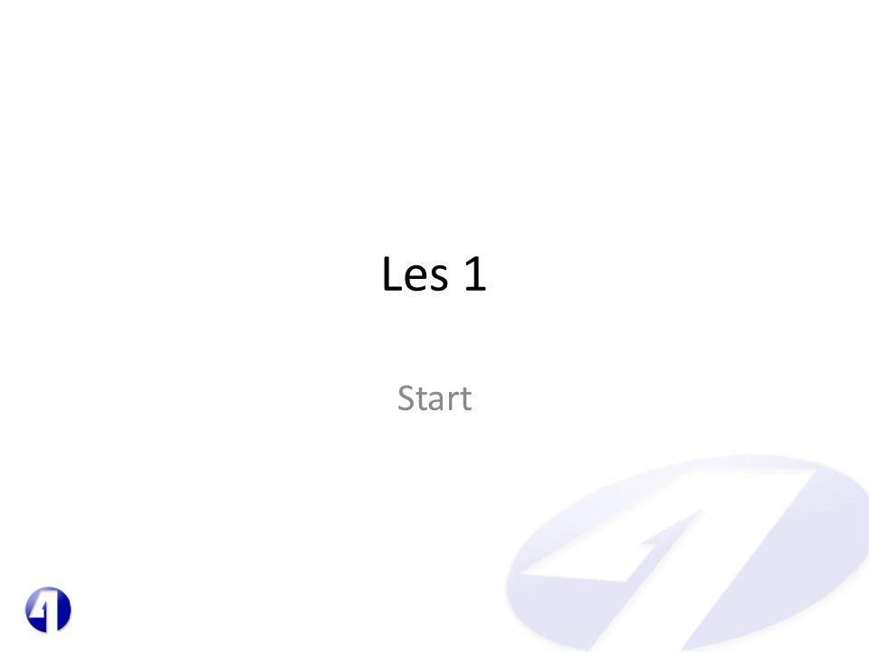 Les 1 Start