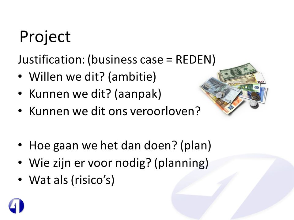 Project Justification: (business case = REDEN)