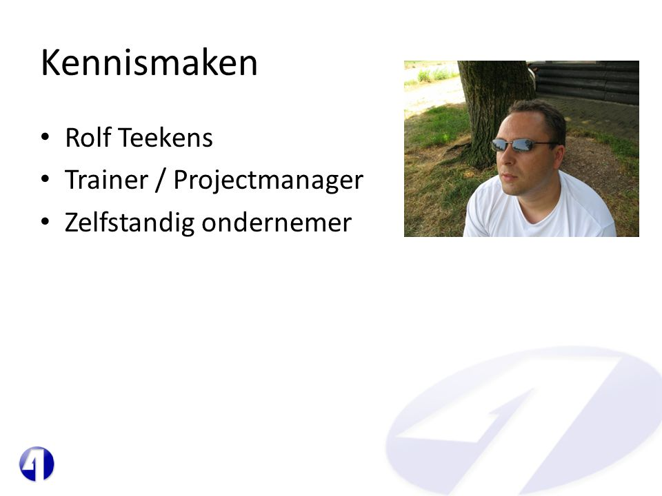Kennismaken Rolf Teekens Trainer / Projectmanager