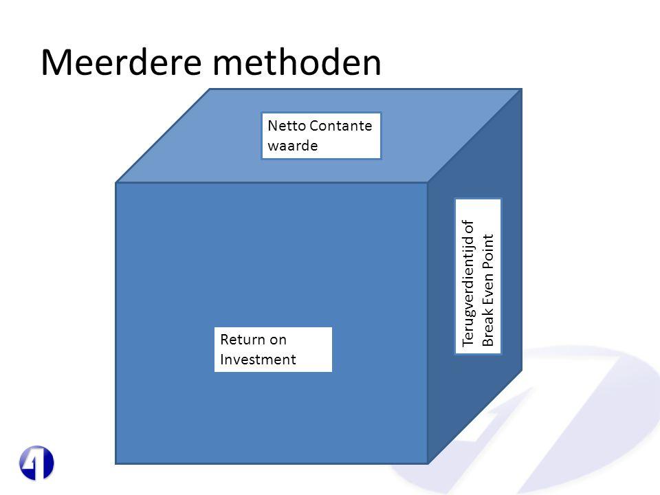 Meerdere methoden Netto Contante waarde
