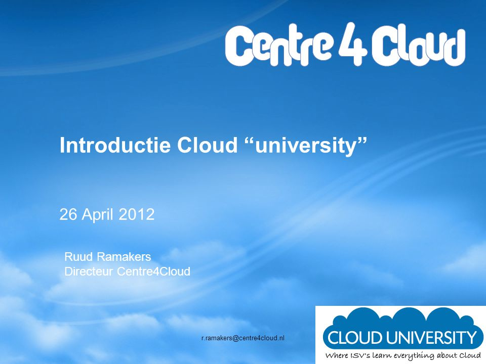 Introductie Cloud university