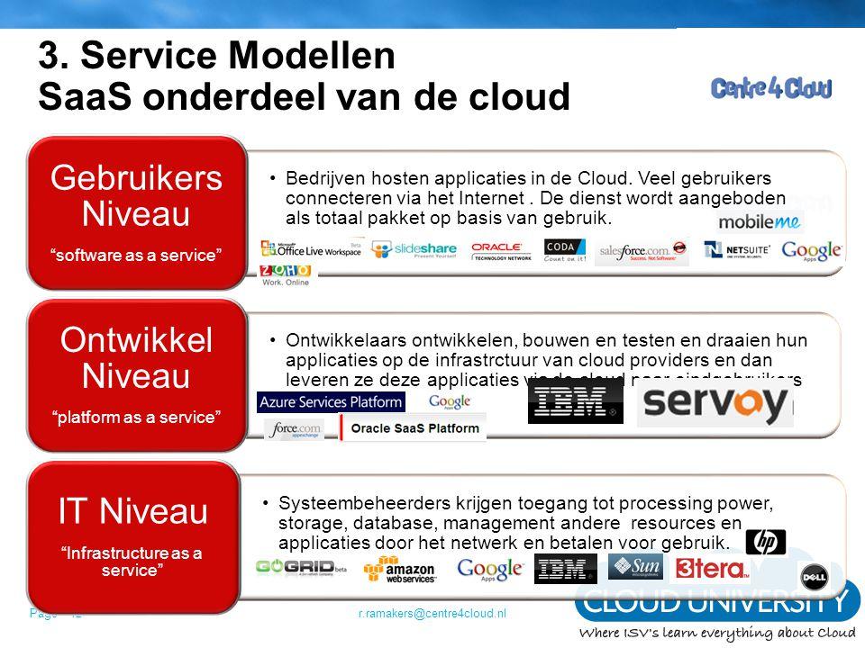 3. Service Modellen SaaS onderdeel van de cloud