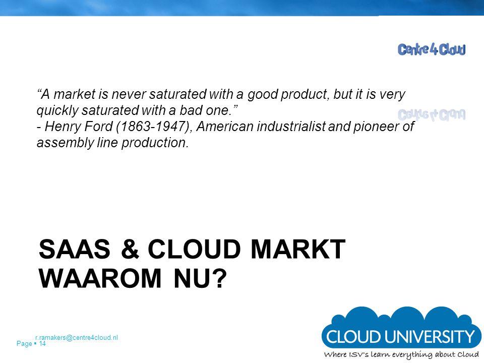 Saas & Cloud markt Waarom nu