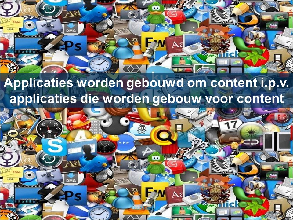 Applicaties worden gebouwd om content i. p. v