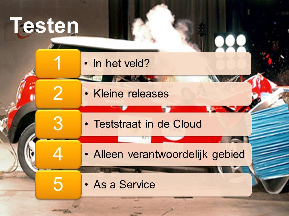 Testen 1 In het veld 2 Kleine releases 3 Teststraat in de Cloud 4