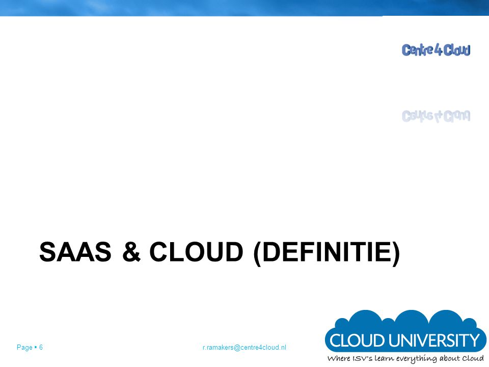 SaaS & Cloud (DEFINITIE)