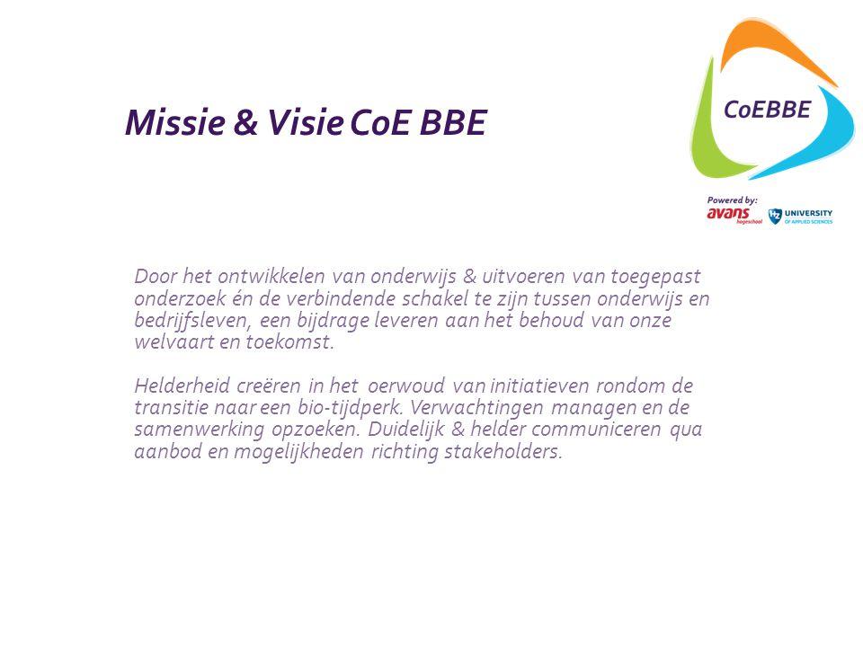 Missie & Visie CoE BBE