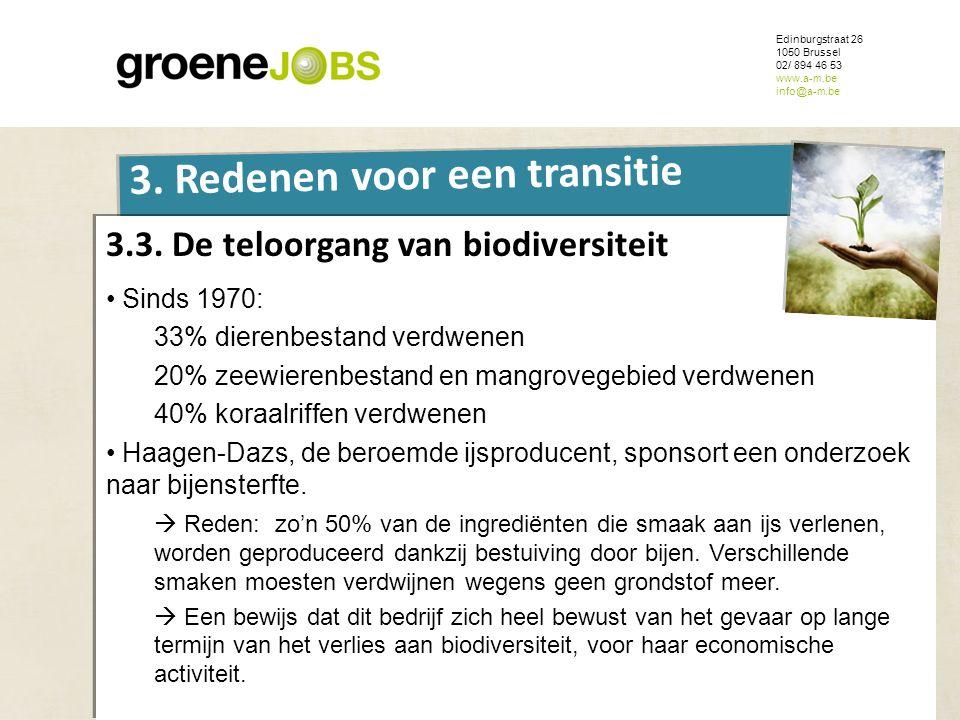 3.3. De teloorgang van biodiversiteit