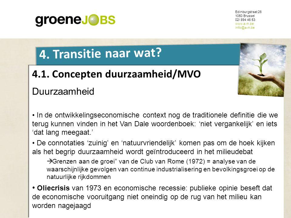 4.1. Concepten duurzaamheid/MVO