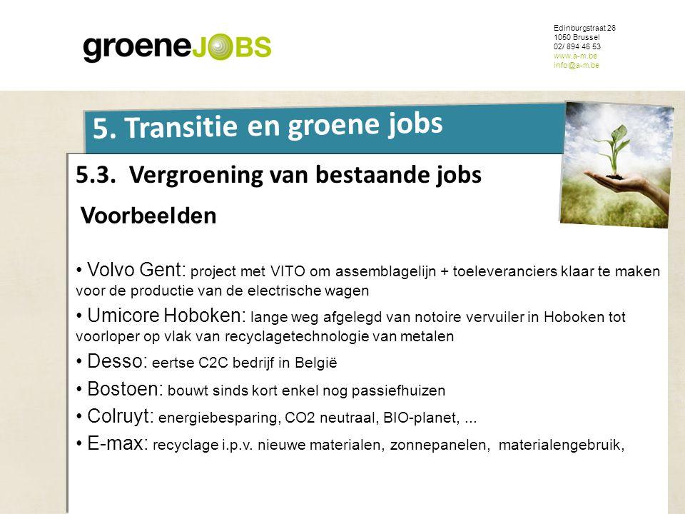 5.3. Vergroening van bestaande jobs