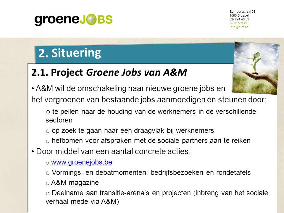 2.1. Project Groene Jobs van A&M