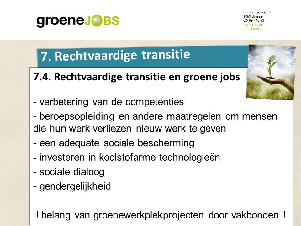 7.4. Rechtvaardige transitie en groene jobs