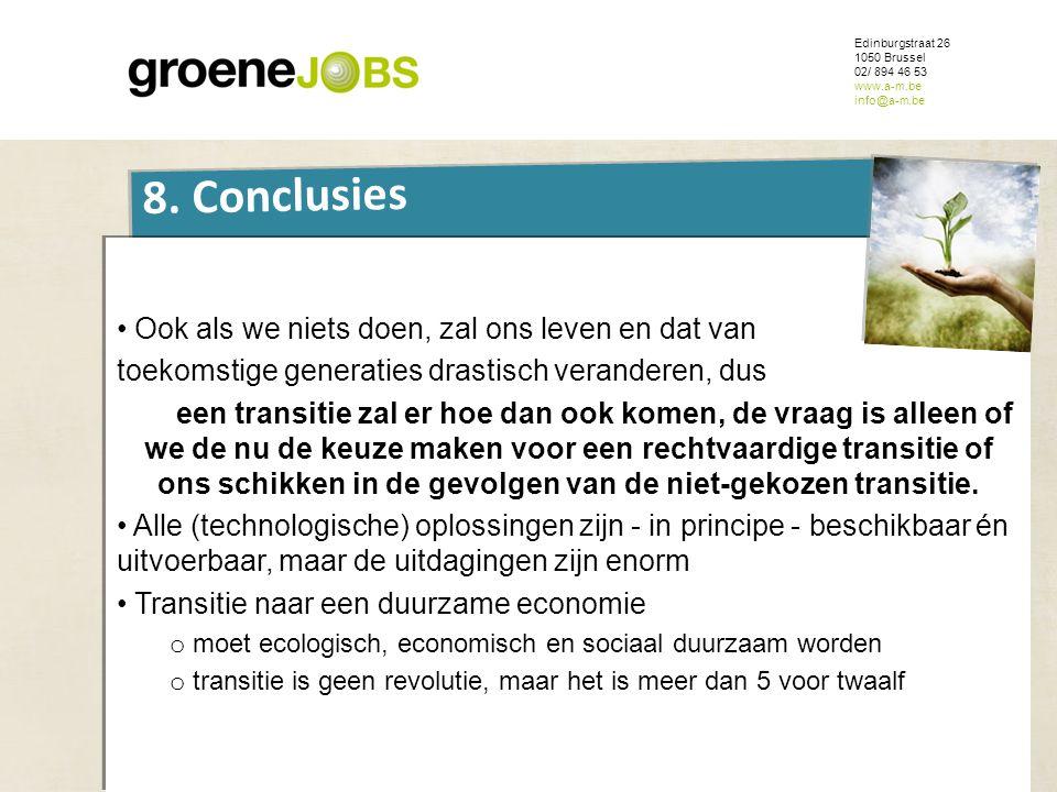 Edinburgstraat 26 1050 Brussel. 02/ 894 46 53. www.a-m.be. info@a-m.be. ONDERWERP. 8. Conclusies.