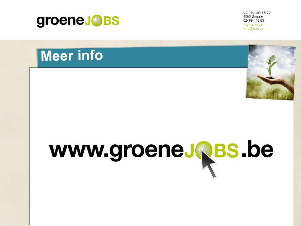 ONDERWERP Meer info Edinburgstraat 26 1050 Brussel 02/ 894 46 53