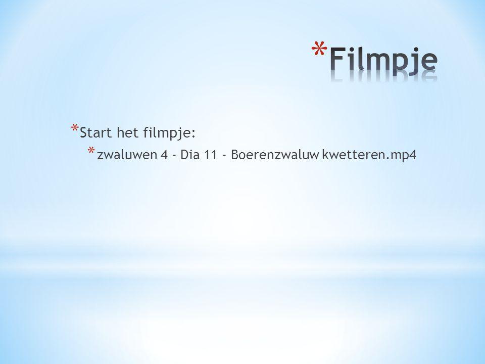 Filmpje Start het filmpje: