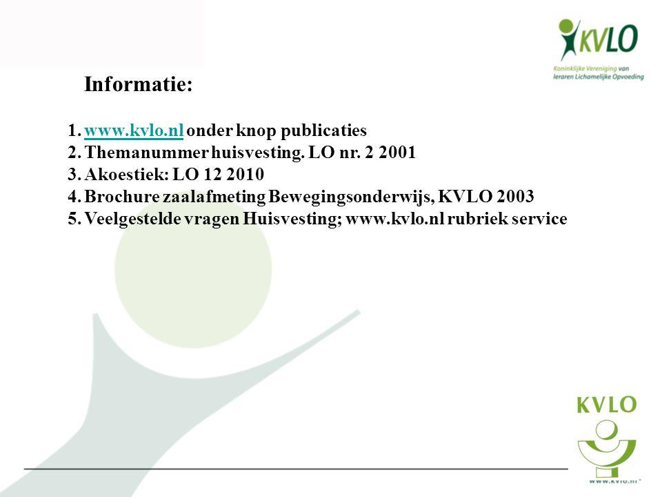 Informatie: www.kvlo.nl onder knop publicaties