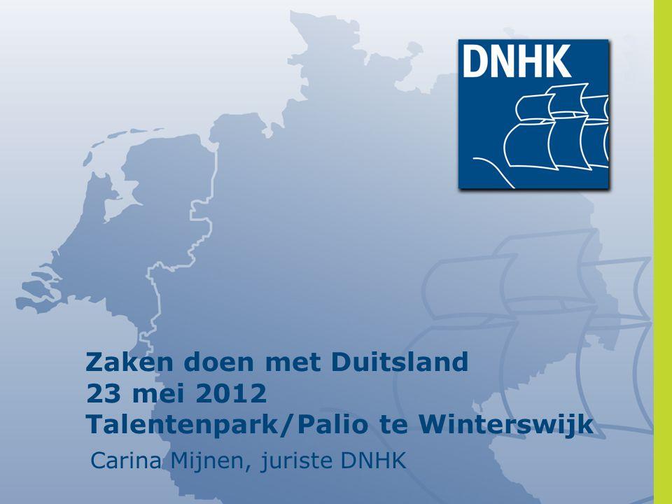 Zaken doen met Duitsland 23 mei 2012 Talentenpark/Palio te Winterswijk