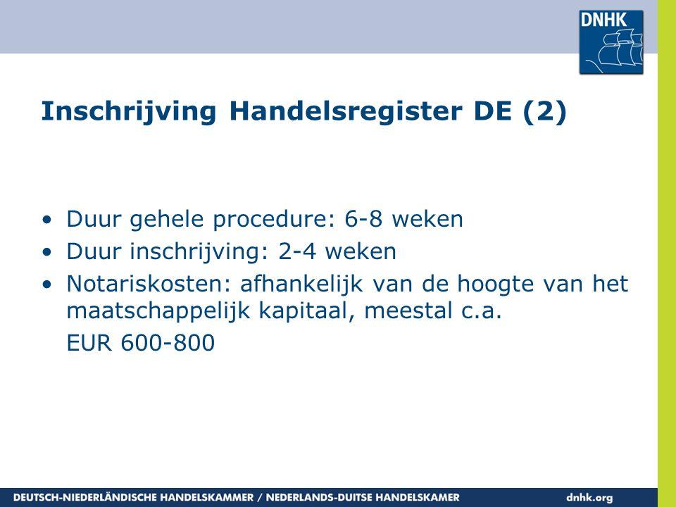 Inschrijving Handelsregister DE (2)