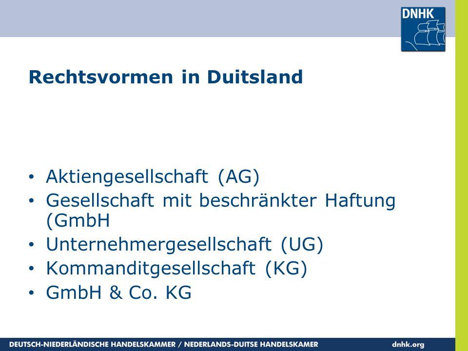 Rechtsvormen in Duitsland
