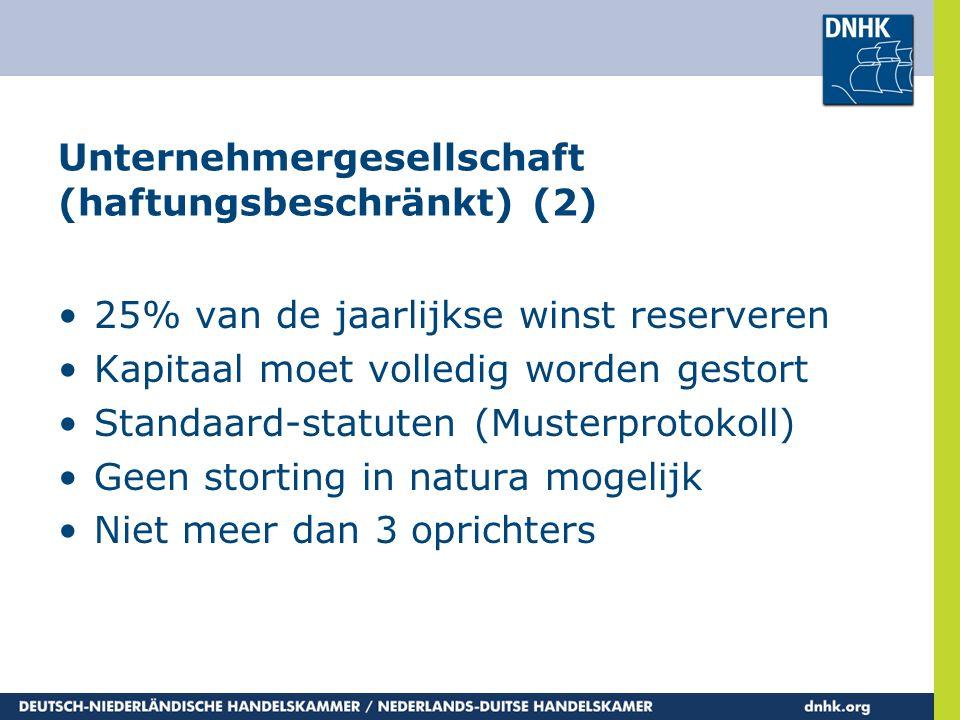 Unternehmergesellschaft (haftungsbeschränkt) (2)