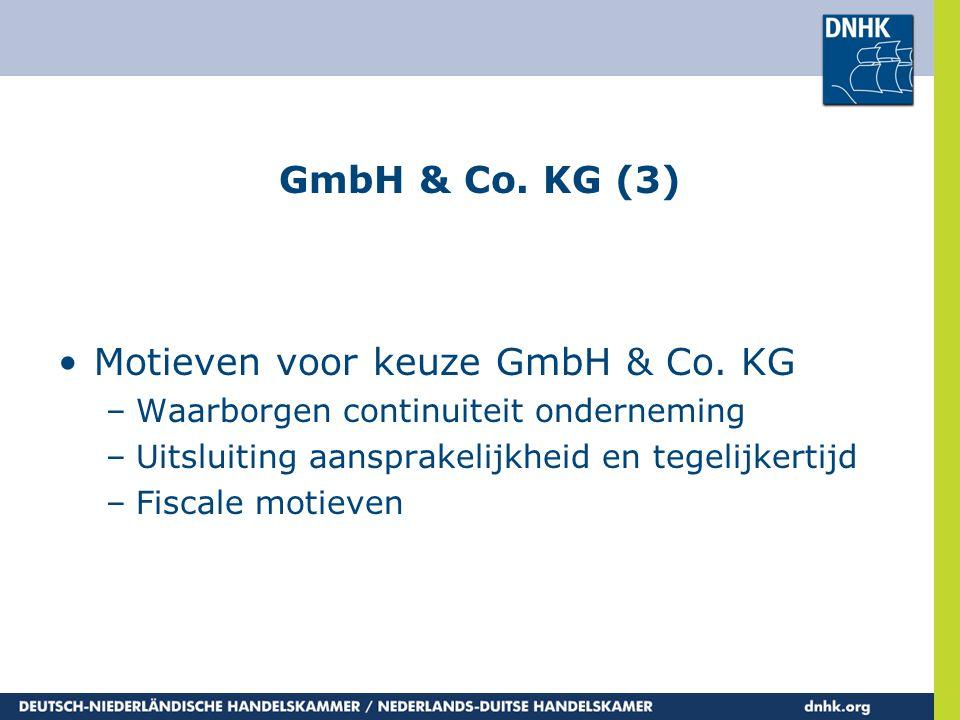 Motieven voor keuze GmbH & Co. KG