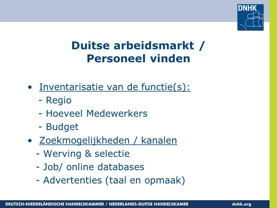 Duitse arbeidsmarkt / Personeel vinden