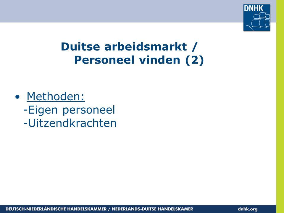 Duitse arbeidsmarkt / Personeel vinden (2)