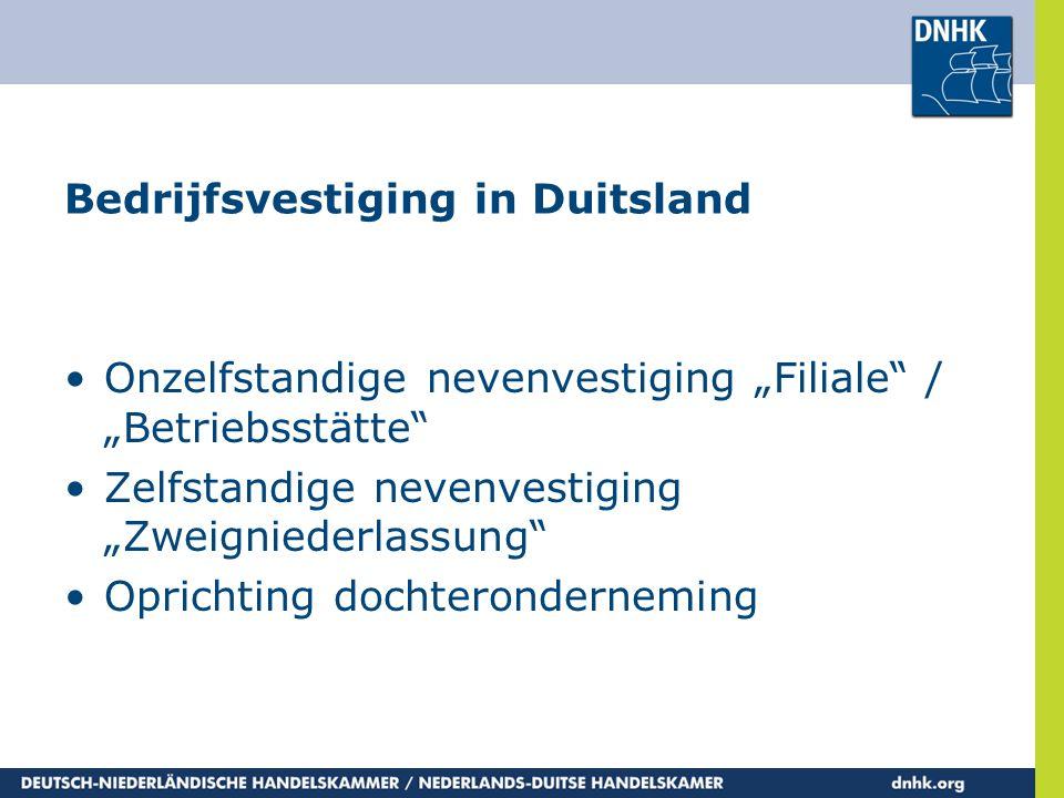 Bedrijfsvestiging in Duitsland