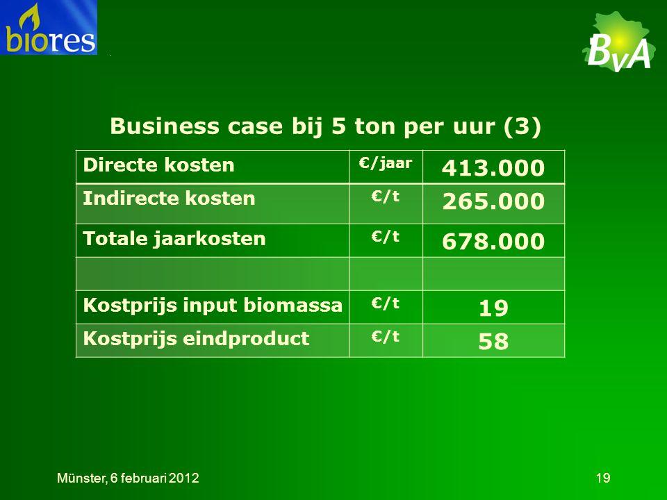 Business case bij 5 ton per uur (3)