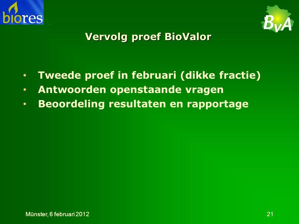 Vervolg proef BioValor