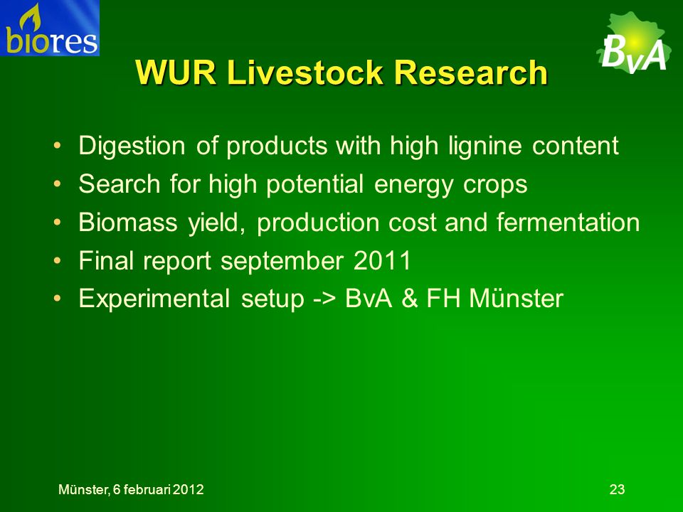 WUR Livestock Research
