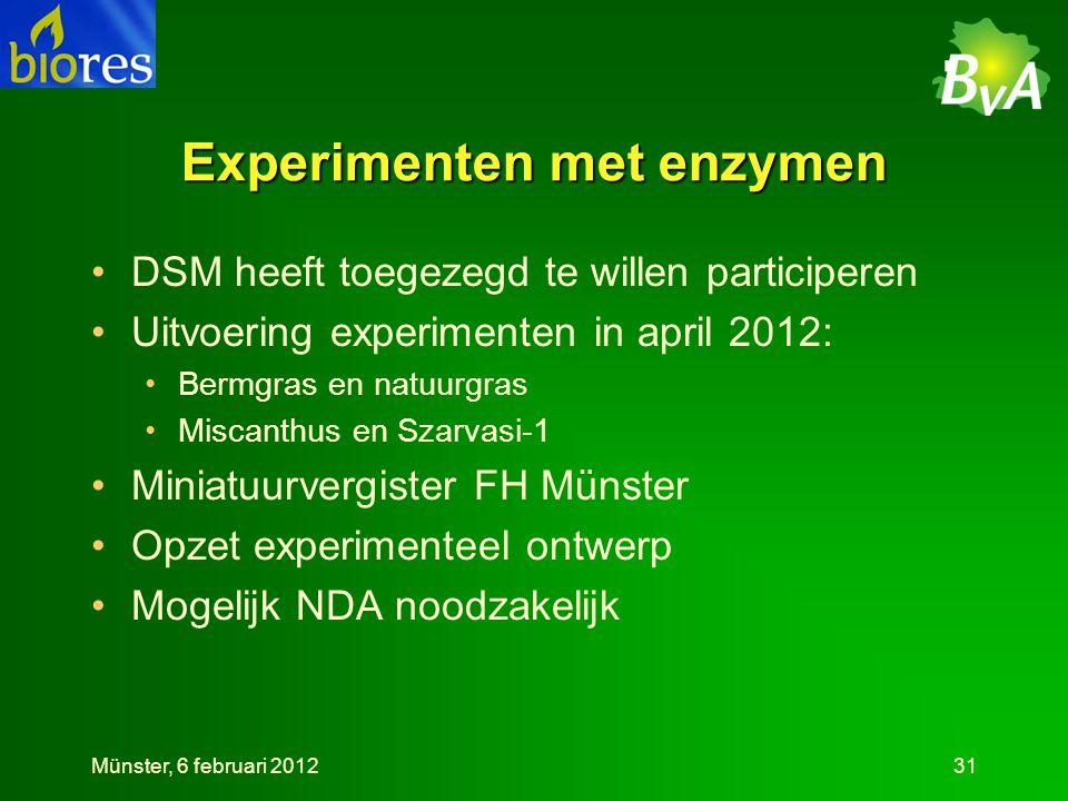 Experimenten met enzymen
