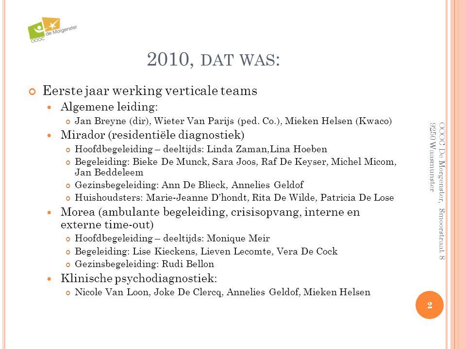 2010, dat was: Eerste jaar werking verticale teams Algemene leiding: