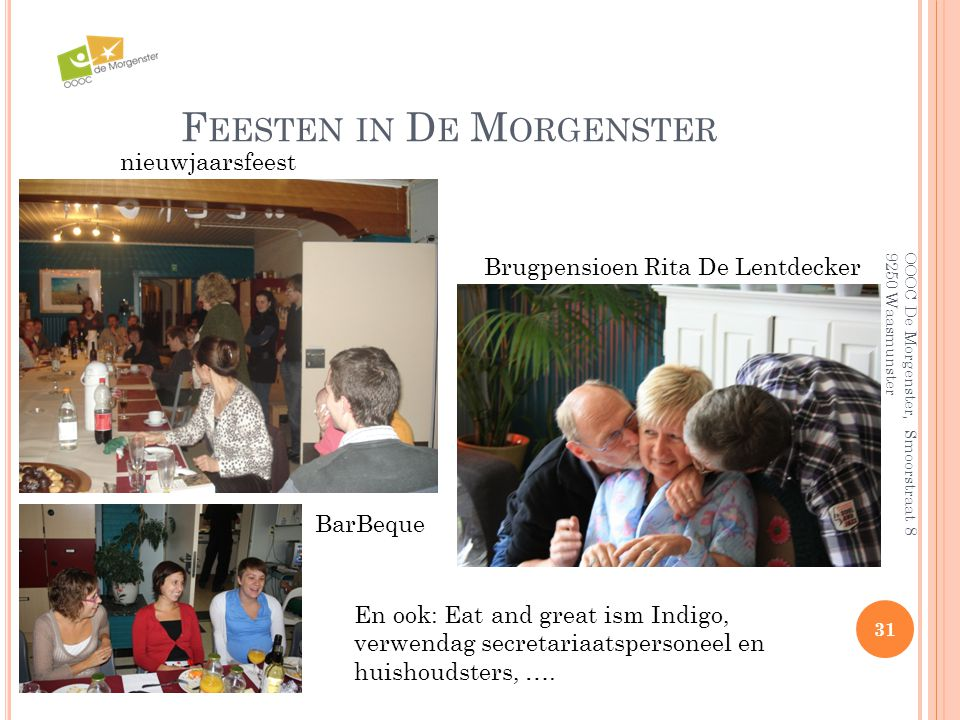 Feesten in De Morgenster
