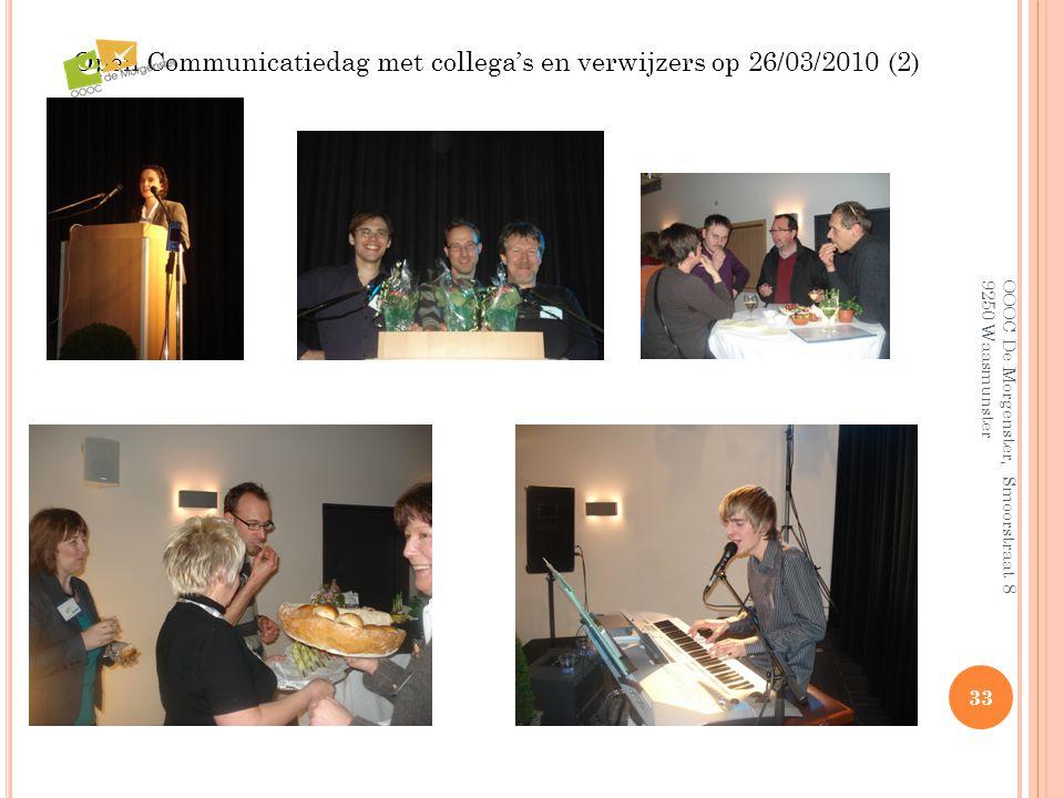 Open Communicatiedag met collega's en verwijzers op 26/03/2010 (2)