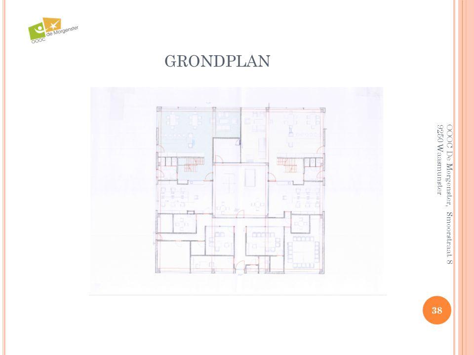 grondplan OOOC De Morgenster, Smoorstraat 8 9250 Waasmunster
