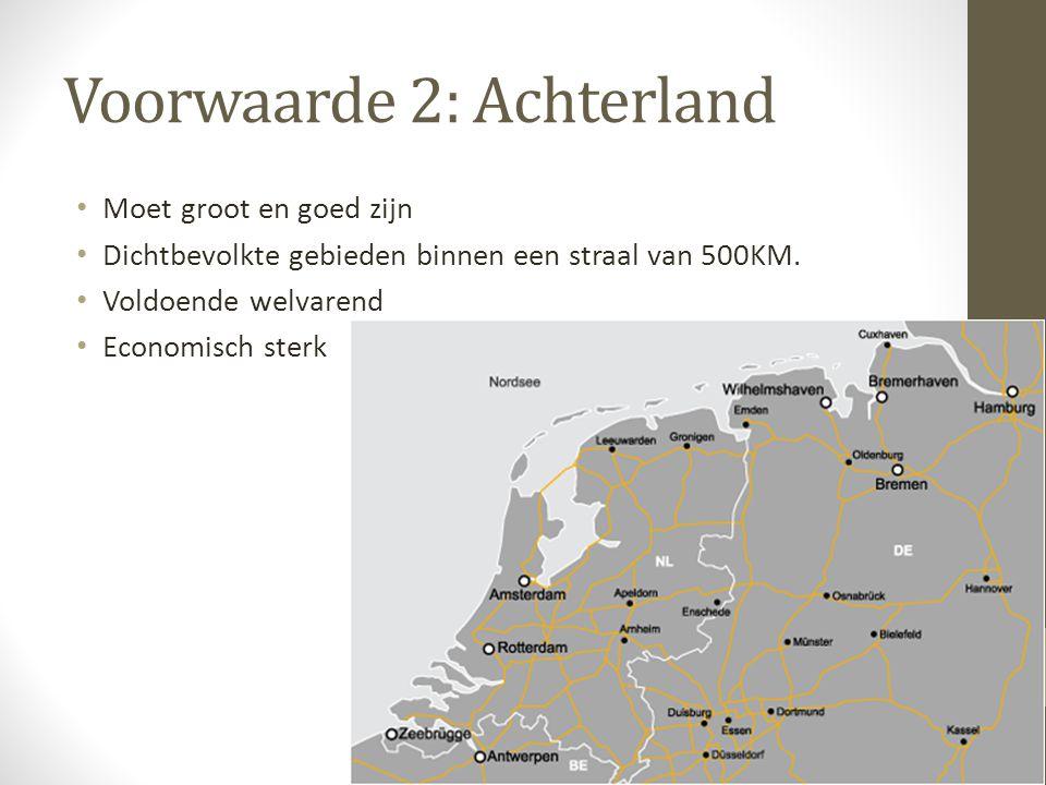 Voorwaarde 2: Achterland