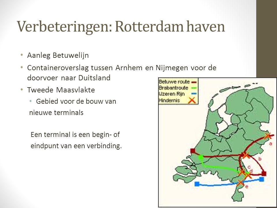 Verbeteringen: Rotterdam haven