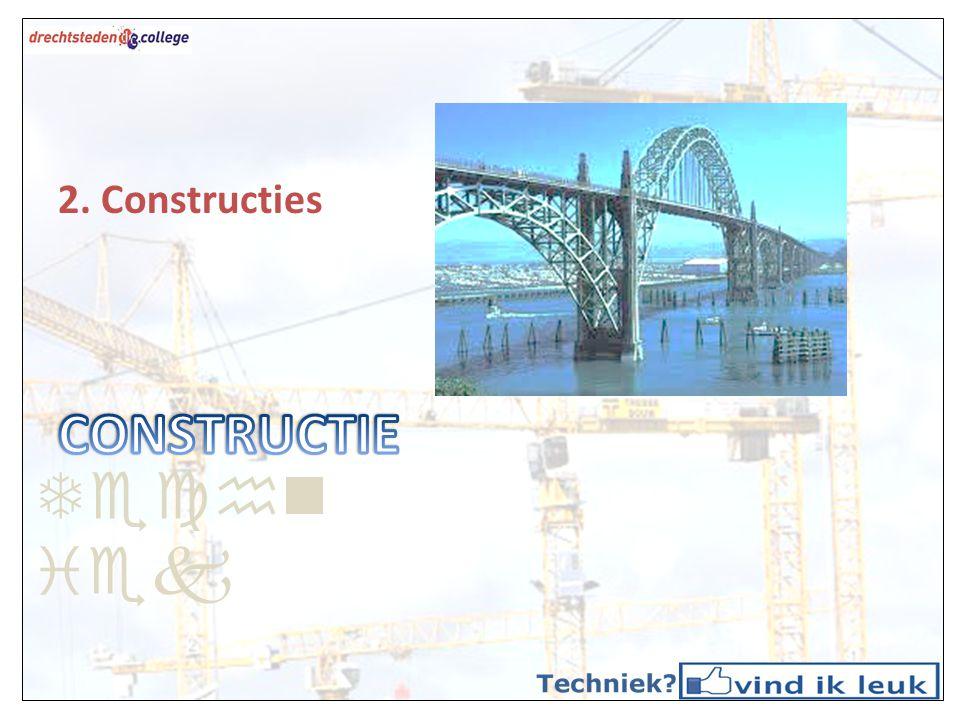 Techniek CONSTRUCTIE 2. Constructies