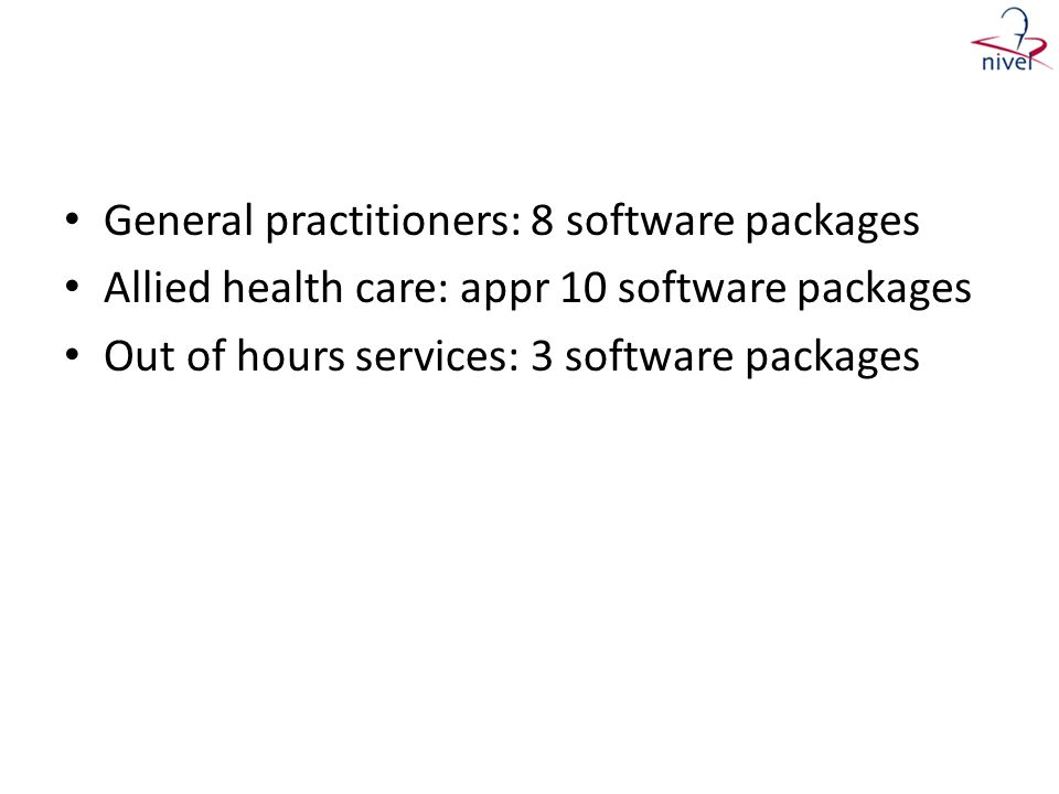 General practitioners: 8 software packages